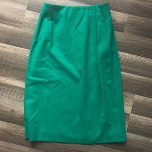 Pendleton  wool Christmas green straight skirt 10